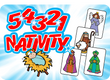 Best Seller - 5 4 3 2 1 NATIVITY! - 5 Cards, 4 Volunteers, 1 Great Message