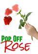 Pop Off Rose Magic Trick Drop Down Flower