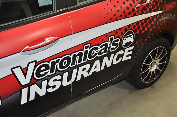 Ford Fiesta Car Wrap For Veronicas Auto Insurance