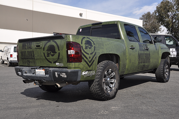 Offroad Truck Wrap 3m Flat For Metal Mulisha