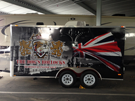 FOOD TRAILER WRAP 12' VEHICLE WRAPS WITH CUSTOM DESIGN