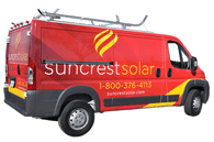 Ram Promaster Van Wrap 3M Vehicle Wrap for Suncrest Solar Fleet