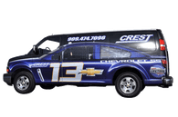 Chevy Van Wrap using GF for Crest Cheverolet