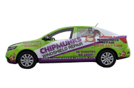 Kia Car Wrap using GF for Chipmunks Windshield Repair