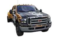 Ford Dually Wrap using 3M For Hunter Tires