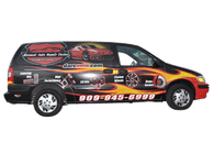 Chevy Van Vehicle Wrap using GF for Discount Auto Center
