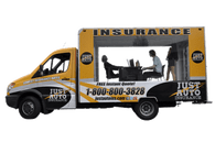Dodge Sprinter Van Wrap using GF for Just Auto Insurance
