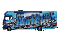34' MOTORHOME CLASS A MATT 3M VEHICLE WRAPS WITH CUSTOM DESIGN