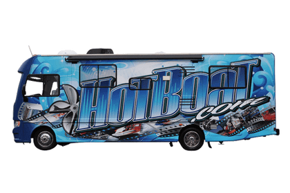 34\' MOTORHOME CLASS A MATT 3M VEHICLE WRAPS WITH CUSTOM DESIGN