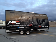 24' TRAILER GLOSS VEHICLE WRAPS WITH CUSTOM DESIGN