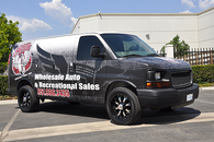 GMC VAN MATT 3M VEHICLE WRAPS WITH CUSTOM DESIGN