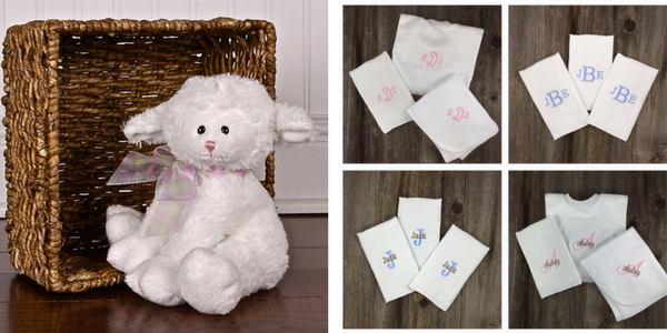 Personalized embroidered baby gifts burp pads bloomers bibs and personalized embroidered baby gifts burp pads bloomers bibs and plush toys baby stitches negle Images