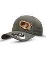 American Lineman Leather Patch Hat Grey