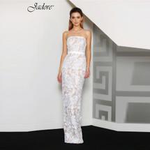 Jadore J8057 Roslyn Lace Maxi Dress