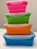 Collapsible rectangle tub set of 4