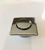 Push Button Chrome - Square