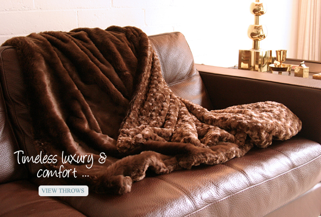 faux fur blankets and throws