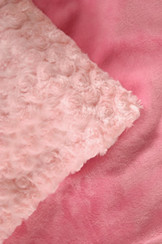 Cozy Faux Pink Bubble Gum Blanket  Tickle-Me-Pink has a classic pink bubblegum color for the All-American girl!