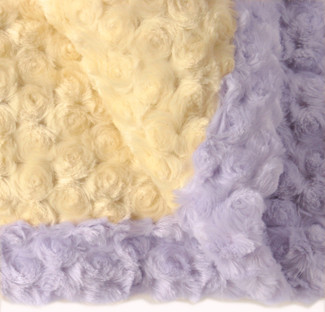 yellow / lavender baby blanket