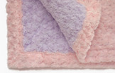 Baby Blanket - Lavender with Light Pink Trim