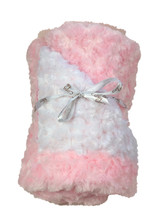 Baby Blanket - White with Light Pink Trim