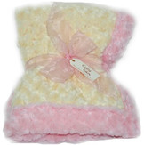 Baby Blanket - Yellow with Light Pink Trim