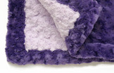 Baby Blanket - Lavender with Purple Trim