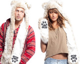 Adult Snow Leopard SpiritHood