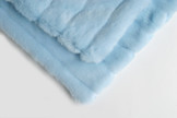 Rabbit Stripe & Light Blue Pet Blanket