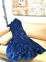 Cobalt Blue Luxe Throw