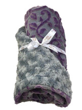 Baby Girl Lavender and Gray Ornate with Piping