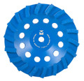 "Swirl Segmented Diamond Cup Wheels 4"" x 5/8"" - 11 - Mercer Blue Lightning"