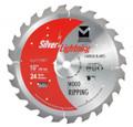 """Silver Lightning Wood Cutting Saw Blades 10"""" x 5/8"""" x 50T - 711003"""