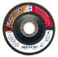 "Mercer Aluminum Oxide Flap Disc 4 1/2"" x 7/8"" 36grit Standard - T27 (Pack of 10)"