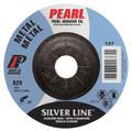 "Pearl SILVERLINE 4-1/2"" x 1/8"" x 7/8"" Depressed Center Grinding Wheel (Pack of 25)"