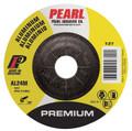 """Pearl Premium 4-1/2"""" x 1/4"""" x 7/8"""" Depressed Center Grinding Wheel - Aluminum (Pack of 25)"""