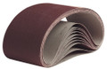 """Pearl 1-1/8"""" x 21"""" Resin Cloth Belt A80 Grit (Pack of 10)"""