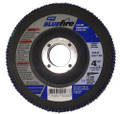 "Norton Bluefire 4-1/2""x7/8"" 60 Grit Zirconia Flap Disc - 10 Pack"
