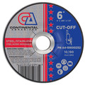 "Premium Cut-Off Wheel 6"" x .040"" x 7/8""  T-27 Metal Cutting (Pack of 25)"