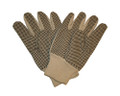 White Cotton Black Dot Gloves - One Size