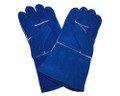 Blue Welders Sock Lined Gloves - One Size
