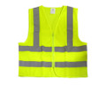 Safety Vest Neon Yellow High Visibility