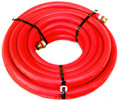 "Water Hose Continental ContiTech Industrial 1/2"" x 75' Red Rubber 200psi - USA"