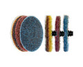 """Surface Prep Disc Rolok Type Quick Change Blue 3"""" - VERY FINE (Pack of 25)"""
