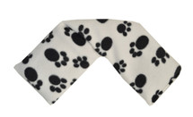 Paw Print Fleece Cover Cotswold Lavender Wheat Bag