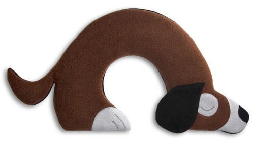 Brown Bobby Dog Unscented Heatable Neck Warmer Pillow