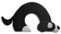 Black Bobby Dog Unscented Heatable Neck Warmer Pillow