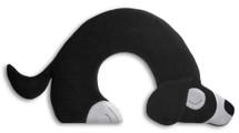 Black Bobby Dog Unscented Heatable Neck Warmer Pillow