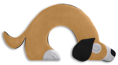 Beige Bobby Dog Unscented Heatable Neck Warmer Pillow