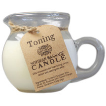 Bamboo Soybean Pouring Massage Candle: Toning Blend